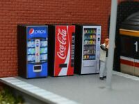 Vending Machines for Model Railway OO Gauge Suits Hornby Peco Bachmann Scale