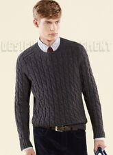 GUCCI Mens XXL chunky Gray CABLE knit wool/ ALPACA blend sweater NWT Authen $825