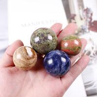 3CM Natural Dragon bloodstone Stone Sphere Unakite Healing Gemstone + Stand