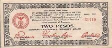Philippines WW II guerrilla note,  2 Peso , P-S524a, MINDANAO, 1944