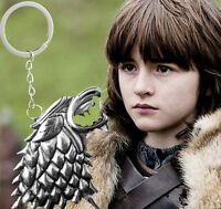 Game of Thrones House Stark Lannister Targaryen Silver Detachable Keyring Metal