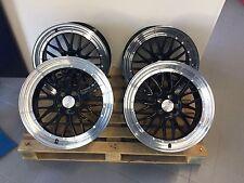 18 Zoll UA3 Felgen 8,5x18 et42 5x108 Schwarz bett poliert Ford Focus Mondeo