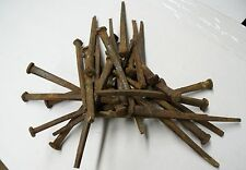 """Approx. 120 (6 lbs) Wrought Iron Antique (1800'S) Square 4.5"""" Long Nails"""