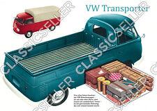 VW TRANSPORTER BUS bulli pickup t1 POSTER MANIFESTO immagine TARGA Pubblicità Insegne