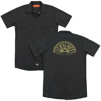 SUN TATTERED LOGO Licensed Adult Men's Dickies Graphic Work Shirt SM-3XL