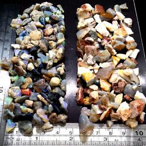 2oz Rough Opal Chips & Snips Half & Half Lightning Ridge & Multiple Mines