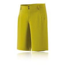 Pantaloncini da uomo giallo per palestra, fitness, corsa e yoga taglia M