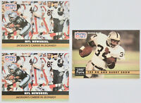 1991 PRO SET FOOTBALL Bo Jackson 3x Card Lot NM #335 #346 Raiders Barry Sanders