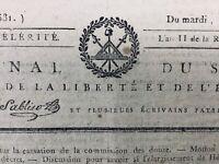 Rare Journal Révolution Française 1793 Hébert Guadet Vergniaud Espagne Pyrénées