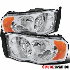 For Dodge Ram 2002-2005 1500 2003-2005 2500 3500 Clear Projector Headlights