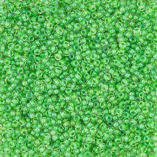 Toho Talla 11/0 dentro de Color Brillo Cristal/Menta Verde Forrado Semilla Cuentas (L33/2)