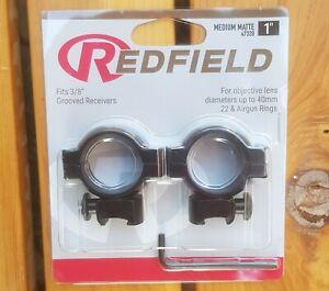 "Redfield 1"" Dovetail Rifle Scope Rings Mounts - MEDIUM Matte Black #47320"