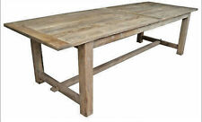NATURAL PROVINCIAL RUSTIC DINING TABLE RECYCLED TIMBER HARDWOOD  290CM.