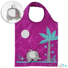 Reusable Elephant Foldable Shopping Bag Eco Tote Shopper Fold Away & Pouch
