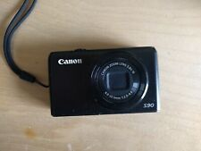 Canon Powershot S90 Digital Camera w/ box, manual, batteries, accessories
