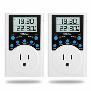 Digital Infinite Repeat Cycle Timer Plug with Countdown and 24 Hour Daily