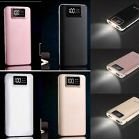 Portable 100000mAh LCD Power Bank External 2 USB Battery Charger For Cell Phones