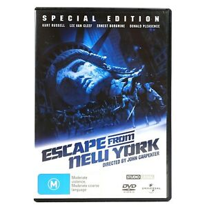 Escape From New York Special Edition Kurt Russell DVD R4 Good Condition