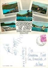Cartolina di San Cristoforo al Lago (Pergine Valsugana), vedutine - Trento, 1962