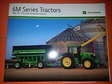"John Deere ""6M Series Tractors"" Catalog Brochure Leaflet"