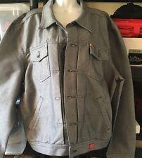 GUESS Premium Denim Ginza Rock Men XL Blue shiny Jean Jacket Coat EUC