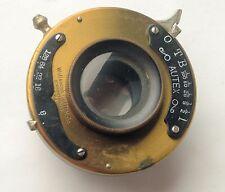 4x5 Brass Rapid Rectilinear in Wollensak Shutter
