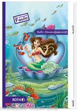 Hausaufgabenheft für clevere Faule Roth Aufgabenheft Schlaue Meerjungfrau