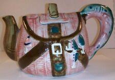 Gift for Him Fisherman's Tackle Box Creel Basket Lures Unique Porcelain Teapot