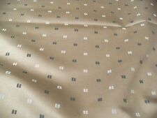 HIGH END DRAPERY UPHOLSTERY cotton FABRIC CREAM TEAL DOT contemporary