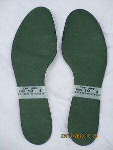 Einlegesohlen For Boots, Green, Size 10 = Length 11 5/8in, GB Combat 1996