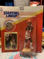 1991 Michael Jordan Starting Lineup SLU Sealed Figure Bulls Shooting Coin Kenner