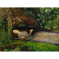 John Everett Millais Ophelia Cropped Canvas Art Print Poster