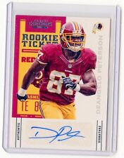 2012 Panini National Treasures 226 Deangelo Peterson Washington Redskins Auto RC Verzamelingen Amerikaans voetbal