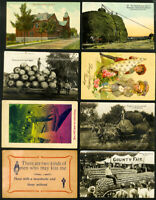 US Early Postcard & Advertising Card Stamp Lot of 25
