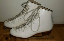 Riedell Red Wing iceskates size 5 M Jr Sheffield 21 blades England White Euc!