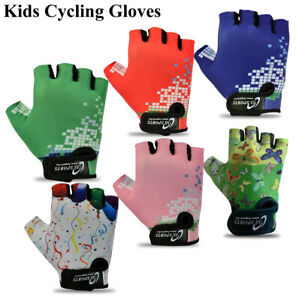 CHILDREN KIDS BOYS GIRLS PADDED CYCLING GLOVES BMX BIKE CYCLE BICYCLE GLOVES NEW