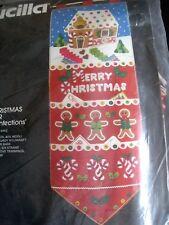 Bucilla Felt Applique Holiday Kit,CHRISTMAS CONFECTIONS,Card Holder,House,48643