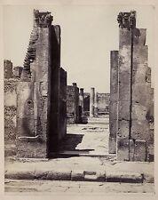 Pompeii Pompei Italy Italia Vintage albumin ca 1870