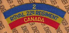 """CANADA ROYAL 22nd REGIMENT 2nd uniform tab flash patch 5.5"""""""