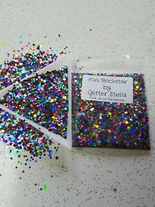 Nail Art Mixed Glitter Mix  ( Mini Rockstar ) 10g Bag Chunky Multi Coloured Dots