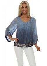 Silk Waist Length 3/4 Sleeve Tops & Shirts for Women