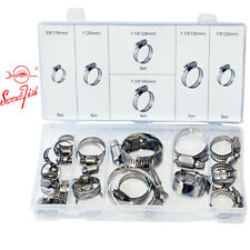 Swordfish 31280 - 26pc Stainless Steel Worm Gear Hose Clamp Assortment