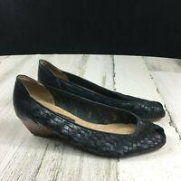 Vintage Vaneli Brown Leather High Heeled Shoes 7.5N | eBay