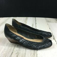 Vintage 70s 80s Bandolino Leather Woven Shoes
