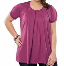 Cotton Blend Short Sleeve Machine Washable Petite Tops & Blouses for Women
