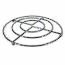 TWIN PACK CHROME TRIVET HOT PAN POT STAND STAINLESS STEEL ROUND