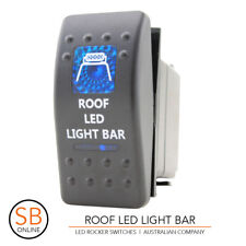 Rocker Switch ROOF LED LIGHT BAR - Blue ARB Carling Narva 4x4 4WD Boat Caravan