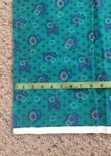 New listing 1 Yd Teal Blue Purple Floral Diamond Print Cotton Twill Lightweight Denim Fabric