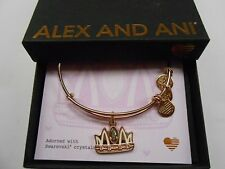 Alex and Ani Queen Mom Bangle Bracelet Shiny Rose Gold NWTBC