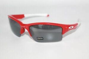 Oakley Quarter Jacket YOUTH Sunglasses OO9200-08 Polished Red W/ Black Iridium